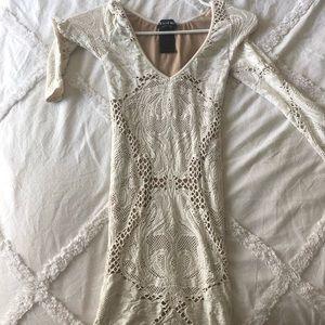 Bebe white lace dress